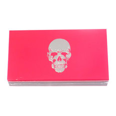 "The Joy of Light Designer Matches Silver Skull on Pink 4"" Collectable Matchbox"