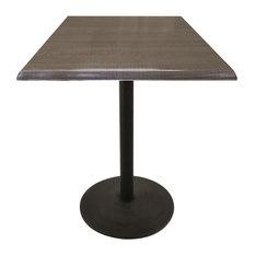 "42"" Black Wrinkle Indoor/Outdoor Table, Charcoal"
