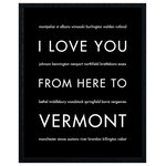 """HopSkipJumpPaper - Vermont State Travel Art Print, Black, 16x20"""" - Celebrate your love for your favorite state: Vermont!"""