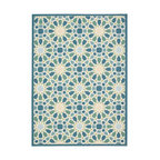 Waverly Sun and Shade Starry Eyed Indoor Outdoor Area Rug, Porcelain, 5