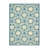 """Waverly Sun and Shade Starry Eyed Indoor Outdoor Area Rug, Porcelain, 5'3""""x7'5"""""""