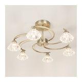 Ana 6 Light Antique Brass Low Ceiling Light