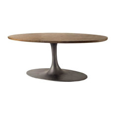 Terran 96-inch Oval Dining With Iron Base