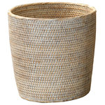 DWBA Bath Collection - DWBA Malacca Round Small Countertop Vanity Wastebasket Trash Can, Rattan, Light - DWBA Malacca Round Small Countertop Vanity Wastebasket Trash Can - Rattan. Created to bring everlasting beauty; this unique Paper Bin is designed to increase the level of elegance in your home.