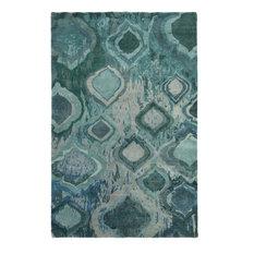 Surya Watercolor Wat5012 Blue Green Modern Area Rug Rectangular 5 X8