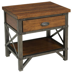 Industrial Nightstands And Bedside Tables by Lexicon Home