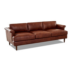 Avenue 405 Malcolm Leather Down Blend Sofa, Chestnut