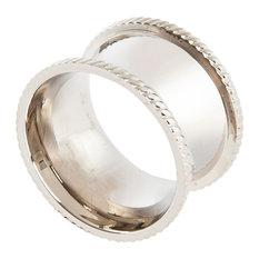 Elegant Silver Round Shape Design Napkin Rings, Set of 4