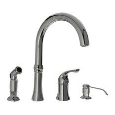 4-Hole Kitchen Faucet, Chrome