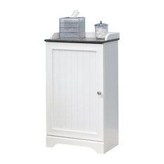 'Sauder - Sauder Caraway Floor Cabinet, Soft White - Bathroom Cabinets and Shelves' from the web at 'https://st.hzcdn.com/fimgs/1311e45b02f29145_8616-w233-h233-b1-p10--.jpg'