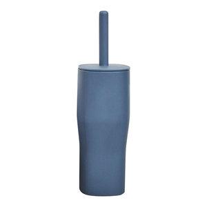 Grace Toilet Brush and Holder, Steel Blue