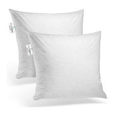 """Set Of Two, Down Square Decorative Pillow Insert, 18"""" X 18"""""""
