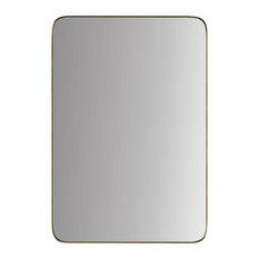 Highland Framed Rounded Rectangle Mirror, Gold