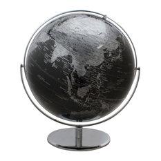 "Columbus Black World Globe - Extra Large 17"" Diameter, Raised Relief"
