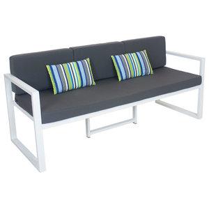Outdoor 3-Seat Munich Sofa, White