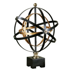Rondure Sculpture in Oil Rubbed Bronze/French Gold