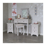 Grey Bedroom Furniture, Dressing Table set & Pair of Bedside Chests - Daventry T