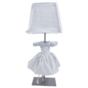 Blue Striped Frida Table Lamp