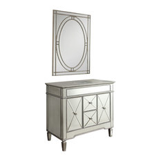 44-inch Mirrored Adelia Bathroom Vanity With Ravalli Mirror