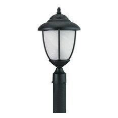 Yorktown 1-Light Outdoor Post Lantern, Forged Iron