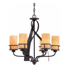 "Canyon Oak 23"" Wide Chandelier, Imperial Bronze"