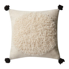"Loloi x Justina Blakeney  Ivory/Black Down Filled Throw Pillow 22""x22"""