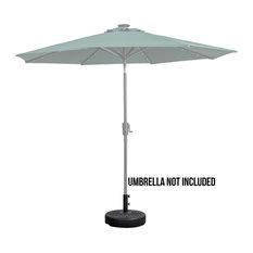 Patio Premier Round Blow Mold Umbrella Base, Black