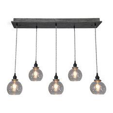 Glass globe pendant lighting houzz industrial lightworks modern glass globe pendant chandelier with edison bulbs with bulbs pendant aloadofball Images