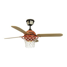 Kids sports themed ceiling fans houzz craftmade 52 prostar basketball ceiling fan black canopy worange mozeypictures Gallery