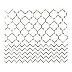 Geometric Chevron Pattern Throw Blanket, King