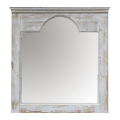 Hall-Style Mirror, Whitewash
