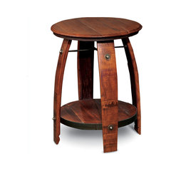 Barrel Side Table. Wrought Iron Side Table
