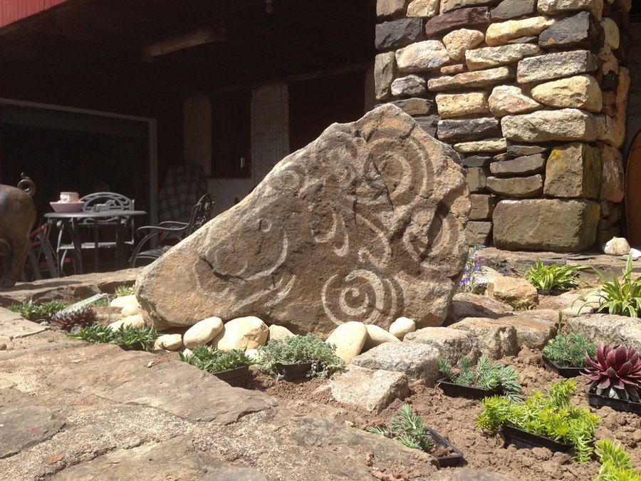 Stone sculpture for the landscape- The Horse