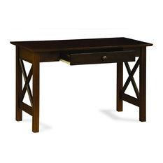 The Atlantic Furniture   Atlantic Furniture Lexington Writing Desk In  Antique Walnut   Desks And Hutches