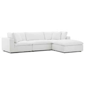 Outstanding Diana Pale Gray Leather Modern Sectional Sofa Contemporary Beatyapartments Chair Design Images Beatyapartmentscom