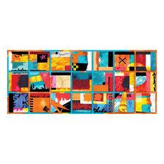 Abstract Wall Print, 210x90 cm