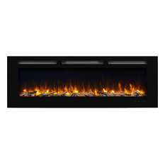 """puraflame - PuraFlame 60"""" Alice In, Wall Recessed Electric Fireplace, Touch Screen Control - Indoor Fireplaces"""