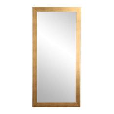 "BrandtWorks 32""x66"" Brushed Gold Floor Mirror"
