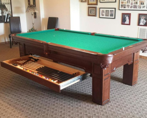 Upscale Olhausen Pool Table W/ Storage Drawer
