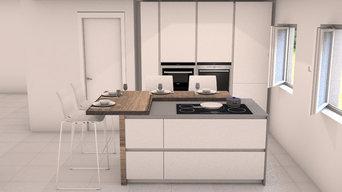 Cucina moderna senza pensili