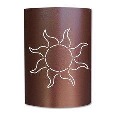 Caramel Brown Sun Sconce