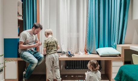 Ein Familienvater verbindet offene Räume zum Zuhause für vier