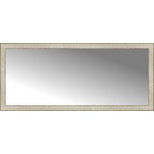 "55""x24"" Custom Framed Mirror, Silver Gold"