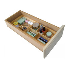 axis natural wood expandable small drawer organizer bathroom organizers