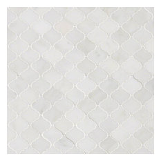 Greecian White Arabesque Pattern Polished Marble Pattern Marble