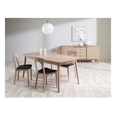 CASO Midcentury Modern Oak Danish Dining Set