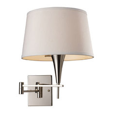 """Wall Sconce 1-Light With Polished Chrome Finish, 22"""""""