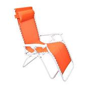 Contemporary Zero Gravity Orange Outdoor Chaise Lounge
