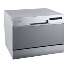 """EdgeStar DWP62 22""""W 6 Place Setting Energy Star Rated Countertop - Silver"""