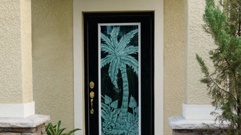 New front door with a Tropical Theme